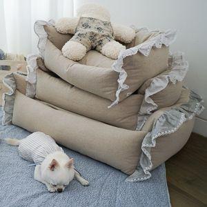 Stylish Beige Dog Bed