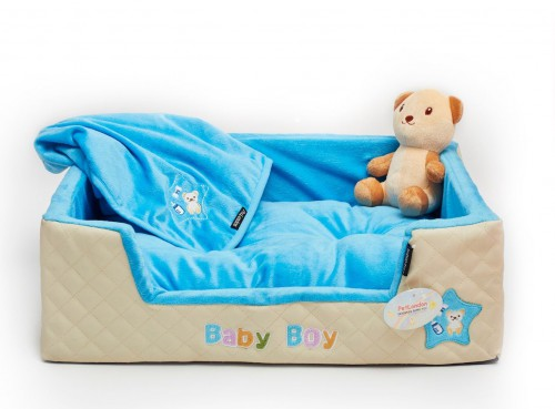 Ideal Puppy Blue Bed