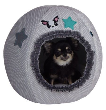 Grey Egg Bed for Chihuahua