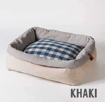 Khaki Dog Bed with Removable Body