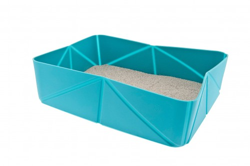 Blue Travel Cat Litter Tray