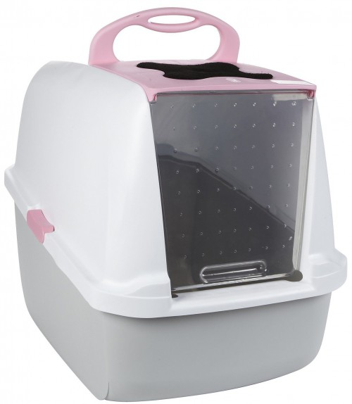 Large Cat Litter Box in Pink