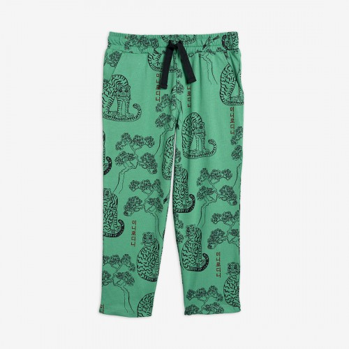 Green Trousers with Tiger Print
