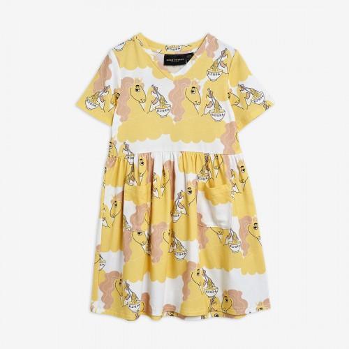 Yellow Short Sleeve Dress