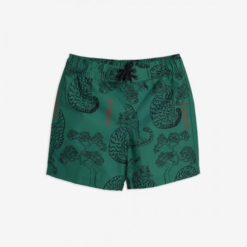 Swim Shorts with Tiger Print