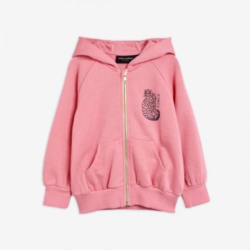 Pink Hoodie with Tiger Print