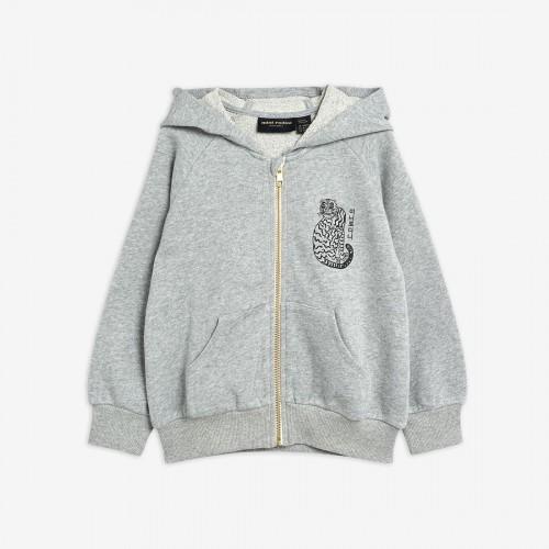 Grey Hoodie with Tiger Print