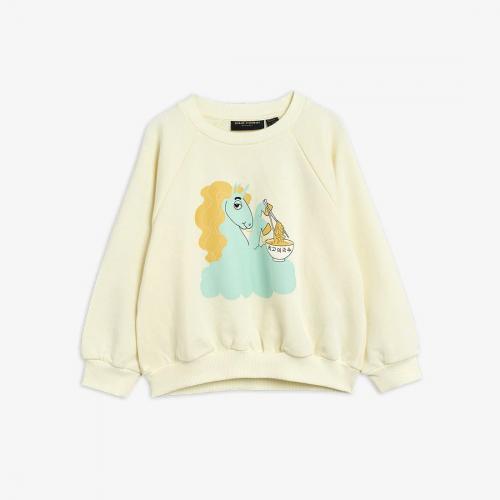 Beige Sweatshirt with Unicorn Print