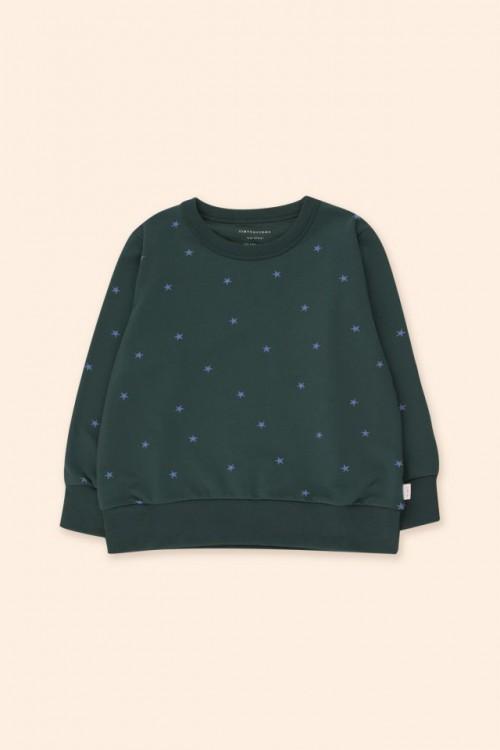 Soft Sweatshirt with Iris Blue Print