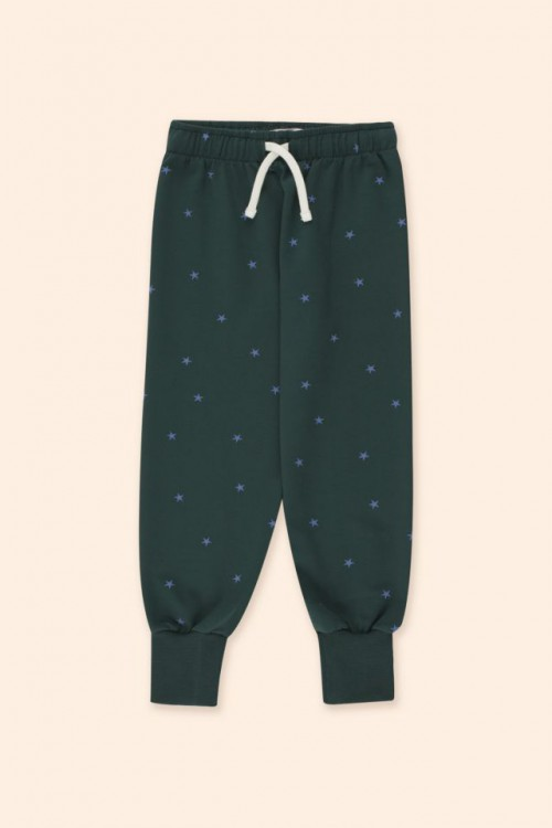 Sweatpant with Iris Blue Print